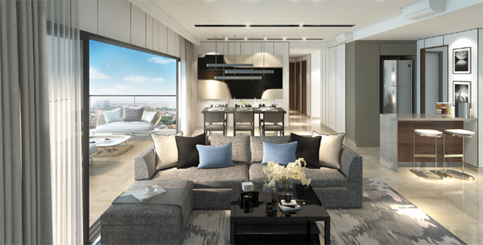 Affinity New Launch Balance Units Condo Sales Showflat Photo of Living Area