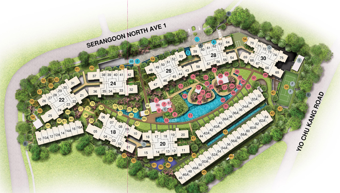 Serangoon Condo Site Plan