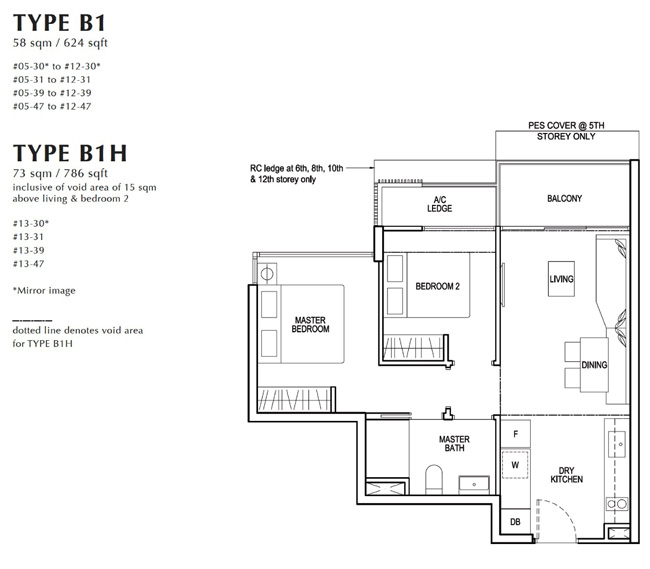 North Park 2 Bedroom Floor Plan
