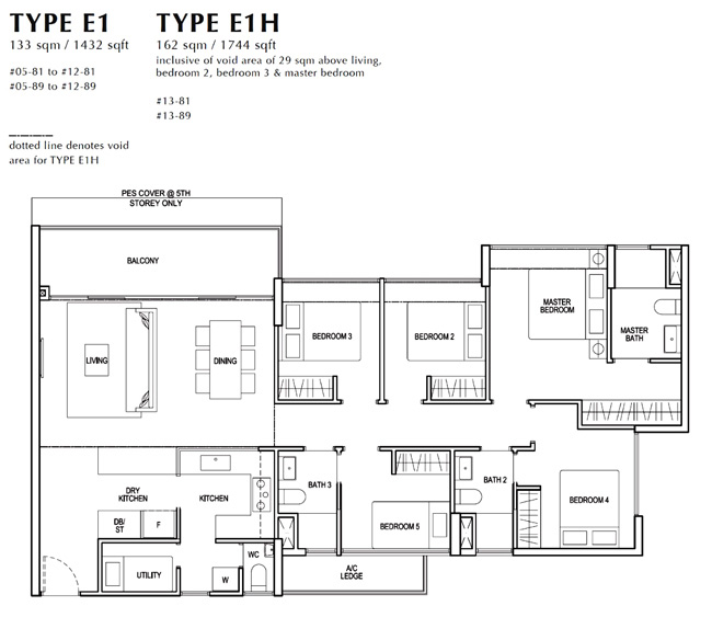 North Park Residence Condo Sales 4 Bedroom Floor Plan