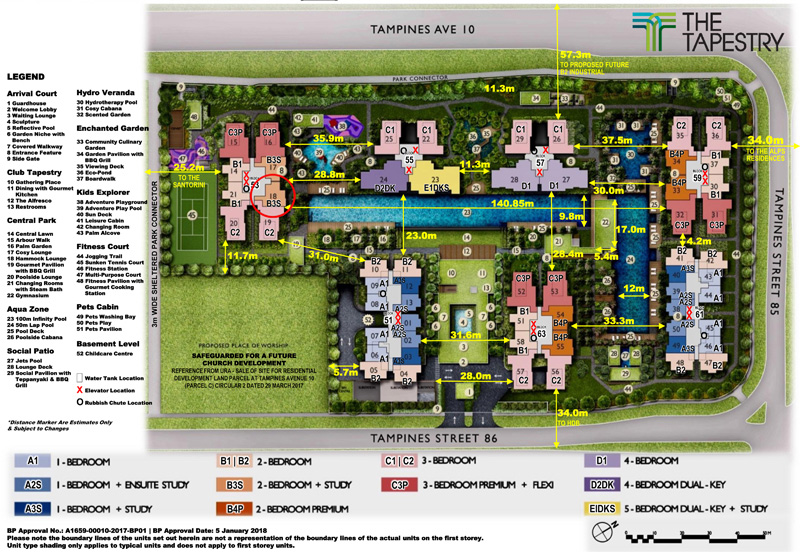 Singapore luxury apartments for sale Condo Tampines 1 to 5 Bedroom New Launch Condo Sales Site Plan.jpg