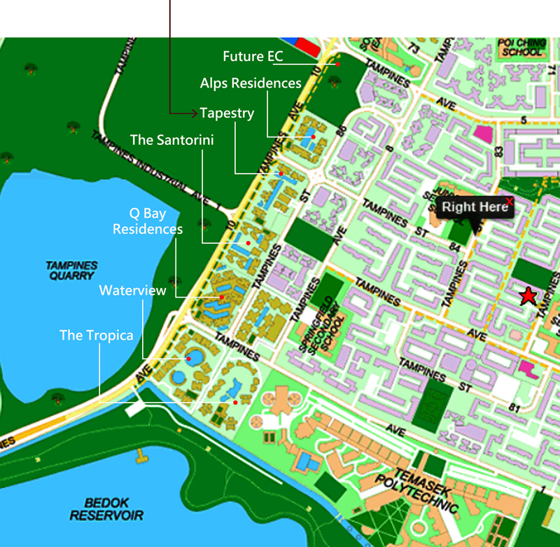 Tampines condo Location Map ….. Direction
