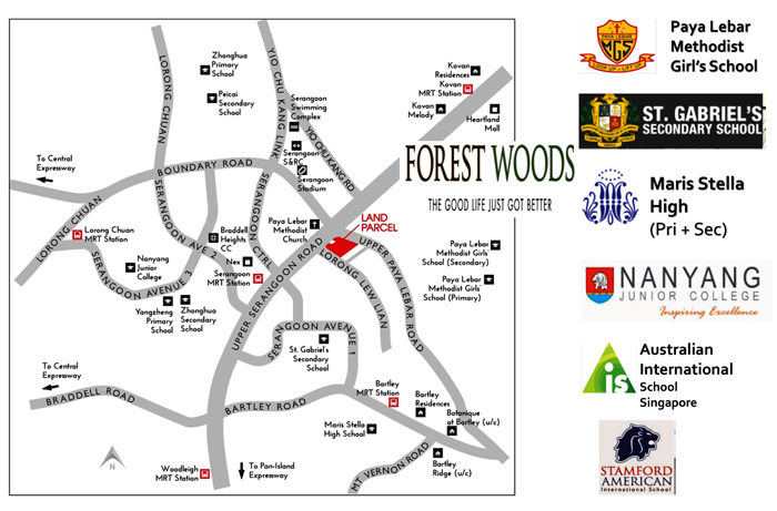 2019  New Forest Woods Condo Sales next to nex shopping Mall For Sale by Developer Location Map