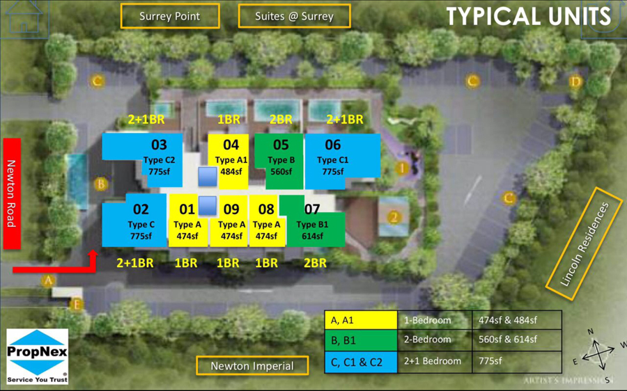 New Launch Freehold Condo 26 Newton Condo Sales Site Plan