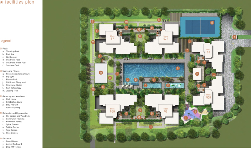 Amore Site Plan with Full Condo Facilities