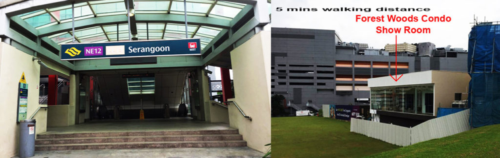 City fringe singapore Forest Woods Condo Sales Showroom near Nex Shopping Mall Closed