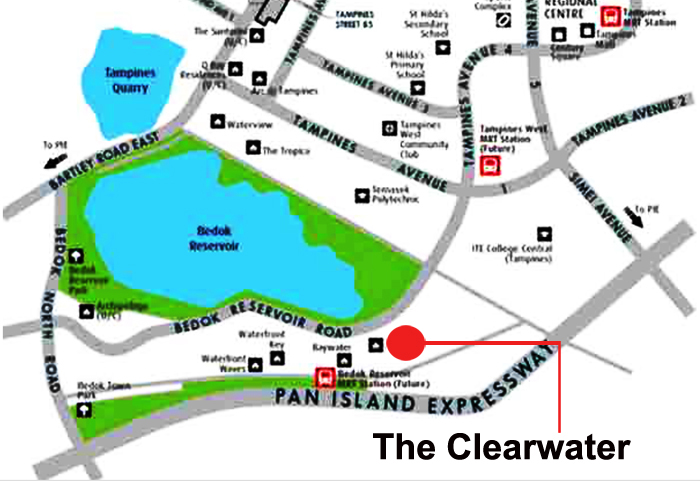 Condo house in singapore The Clearwater Condo Sales Location Map