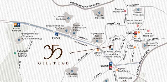 35 Gilstead Condo Sales Location Map