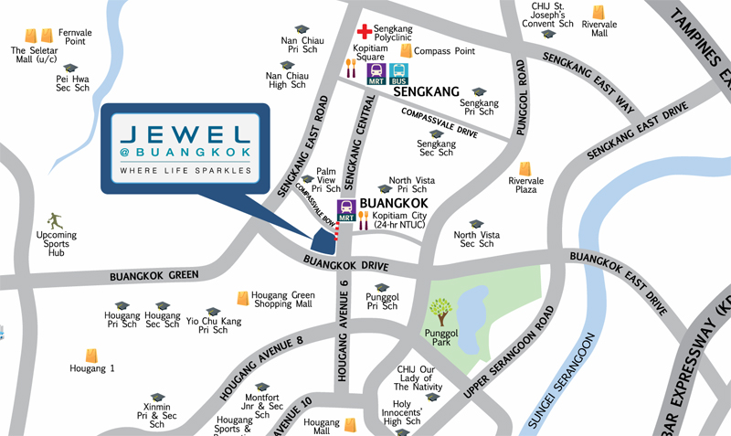 COMPASSVALE BOW Popular condos in singapore Jewel Buangkok Condo Sales Residential units near Buangkok MRT