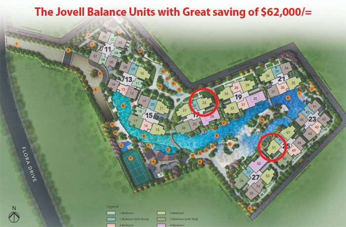 New development singapore The Jovell Changi Flora Drive condo New Launch Condo Units 巴西立公寓