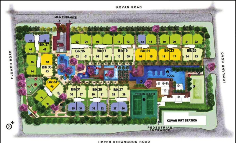 Private housing in singapore  Kovan Melody  Site Plan