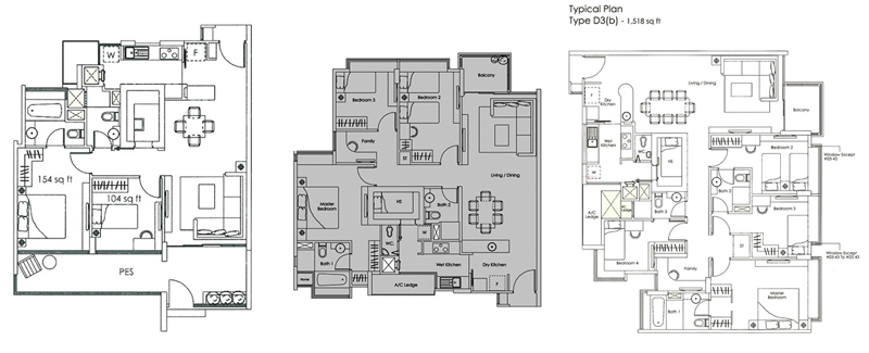 Private property singapore  Kovan Melody Floor Plan