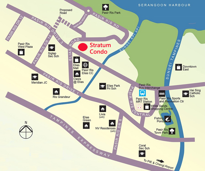 Real estate houses Stratum Condo Sales Location Map