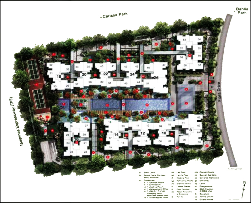 Resale condo singapore Ferraria Park Freehold condominium Site Plan