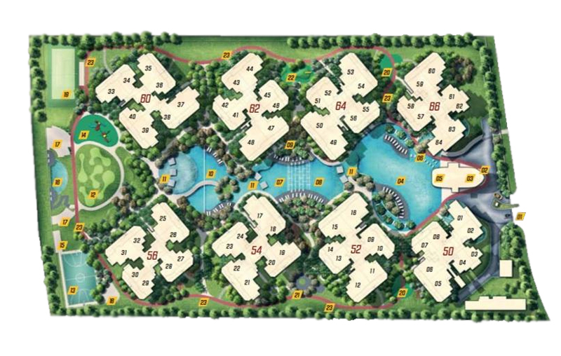 Resale property singapore Parc Olympia Condo Sales Site Plan