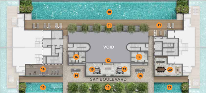 Luxury Freehold Condo Singapore Singapore homes for sale Boulevard 88 Site Plan at Level 29