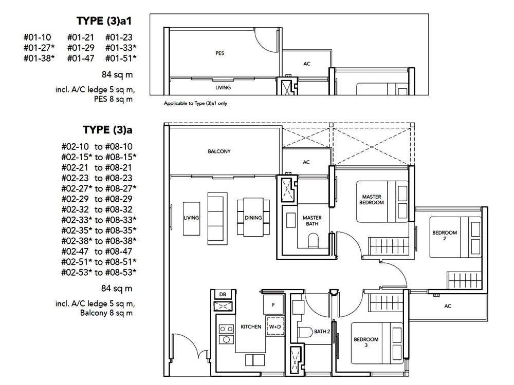 The Jovell 3 bedroom Floor Plan