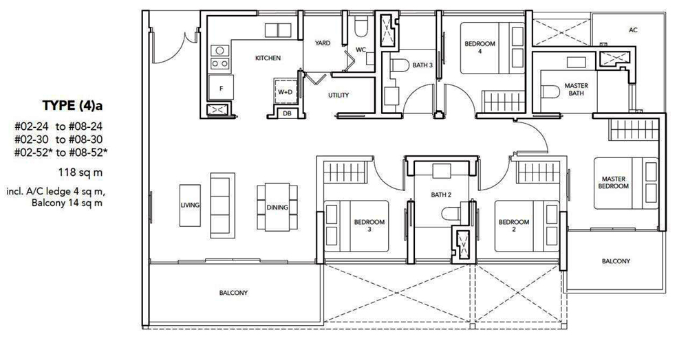 The Jovell 4 bedroom Floor Plan