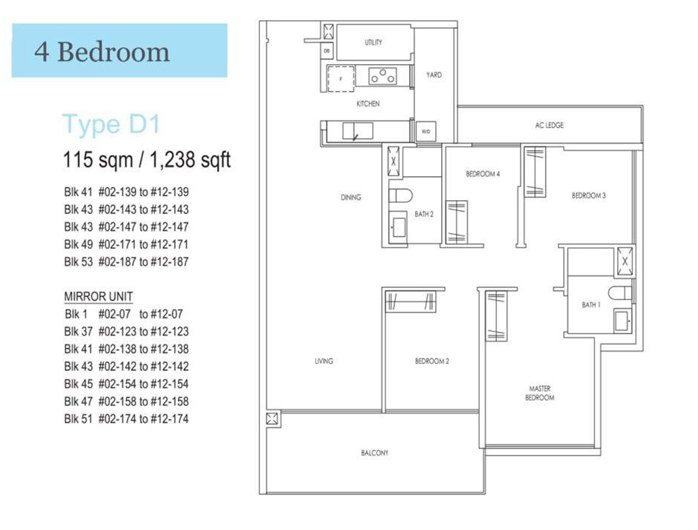 Treasure 4 Bedroom Floor Plan