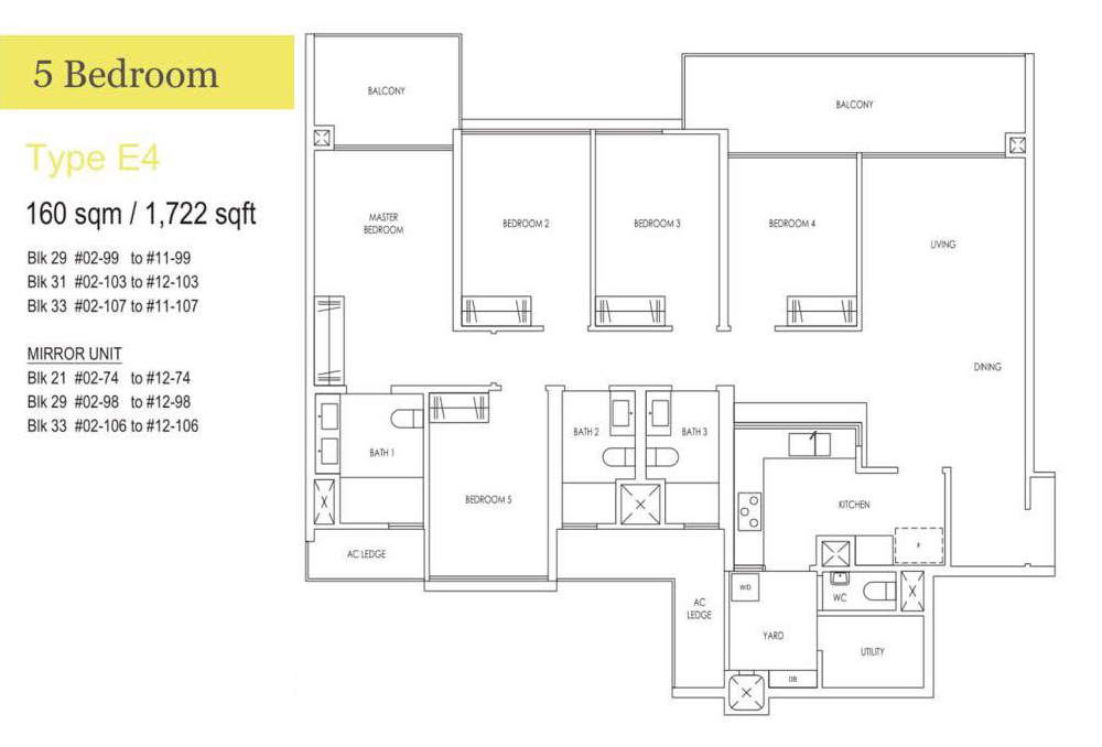 Treasure 5 Bedroom Floor Plan