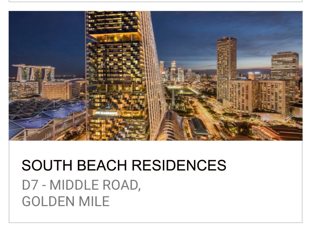 公寓买卖 South Beach Residences