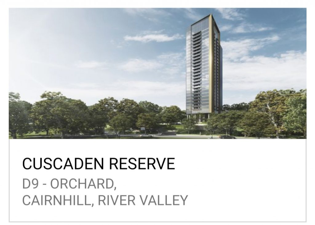 Cuscaden Reserve New Launch Condo Sales