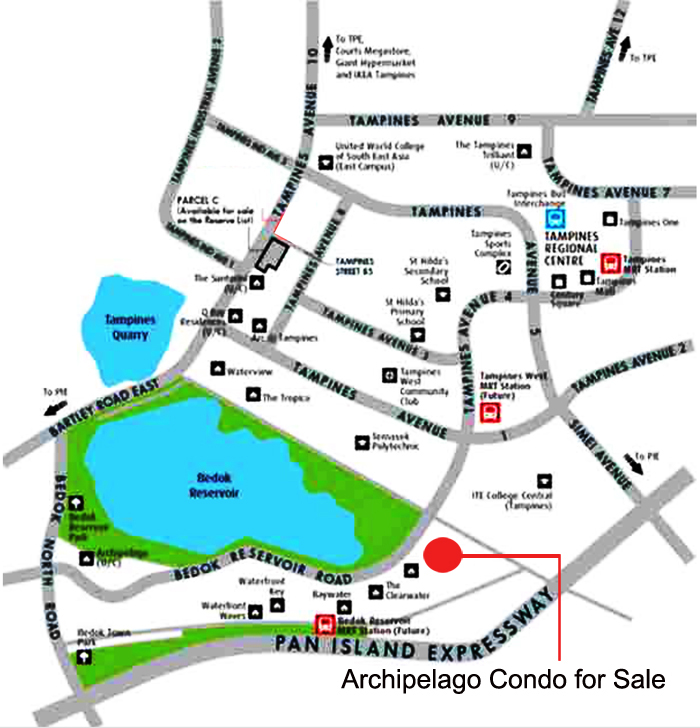 New development singapore Archipelago Condo Location Map
