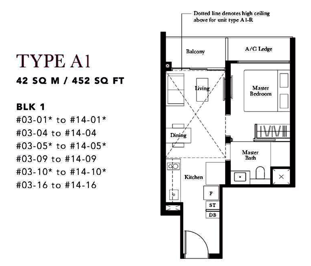 Garden Residences 1 Bedroom Floor Plan