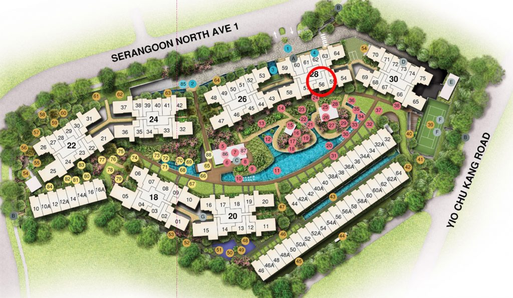 Affinity 2 bedroom Site Plan