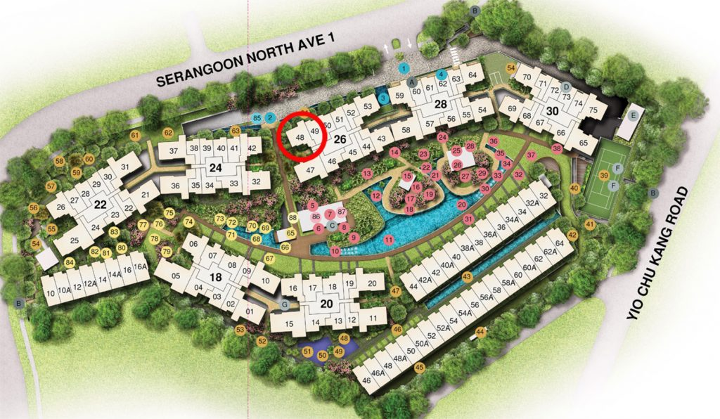 Affinity 3 bedroom Site Plan