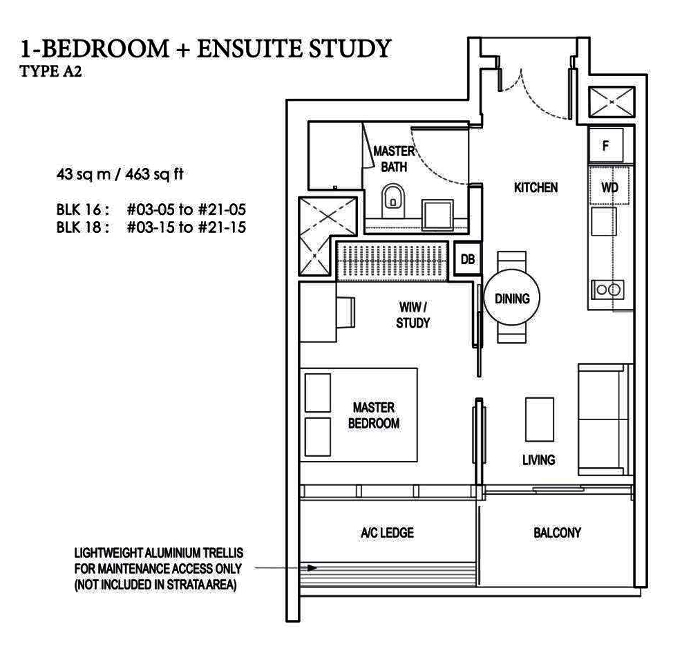 Amber Park 1 bedroom+Study Floor Plan Condo Sales 安珀苑 near Amber MRT