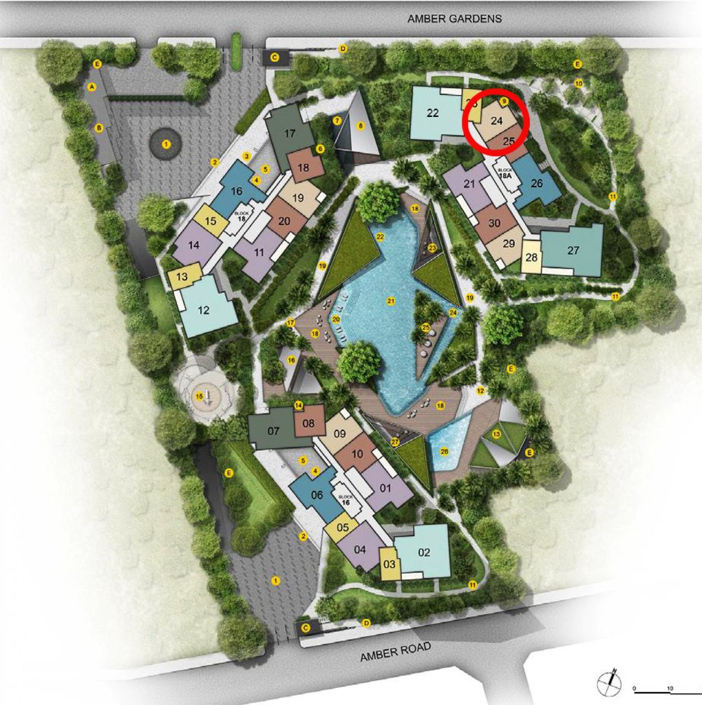 Amber Park 2 bedroom Site Plan Condo Sales 安珀苑 near Amber MRT