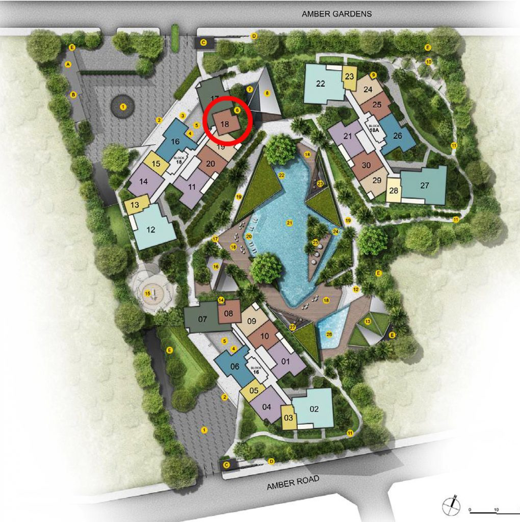 Amber Park 2 bedroom+Study Site Plan
