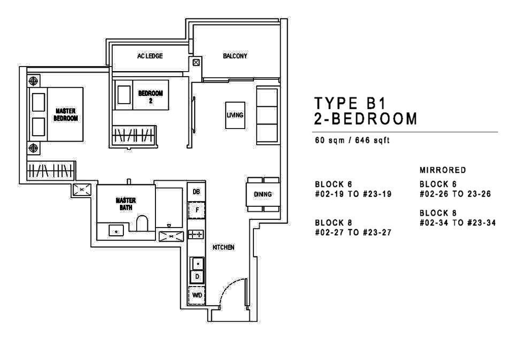 Jadescape 2 Bedroom Floor Plan