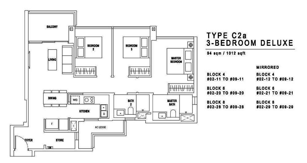 Jadescape 3 Bedroom Floor Plan