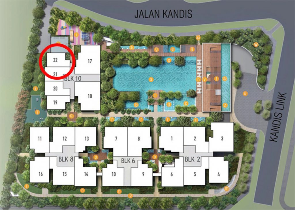 Kandis Residences 1 Bedroom Site Plan