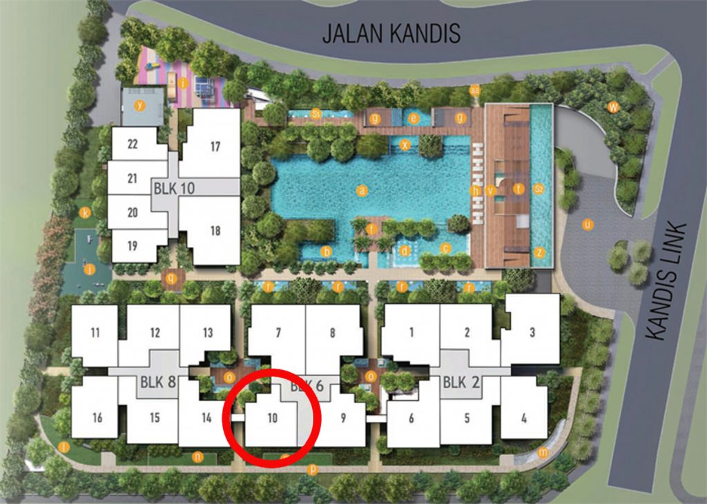 Kandis Residences 2 Bedroom Site Plan