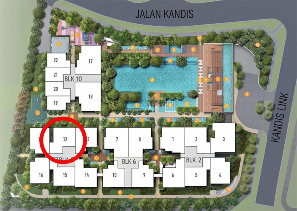 Kandis Residences 2 Bedroom+Study Site Plan
