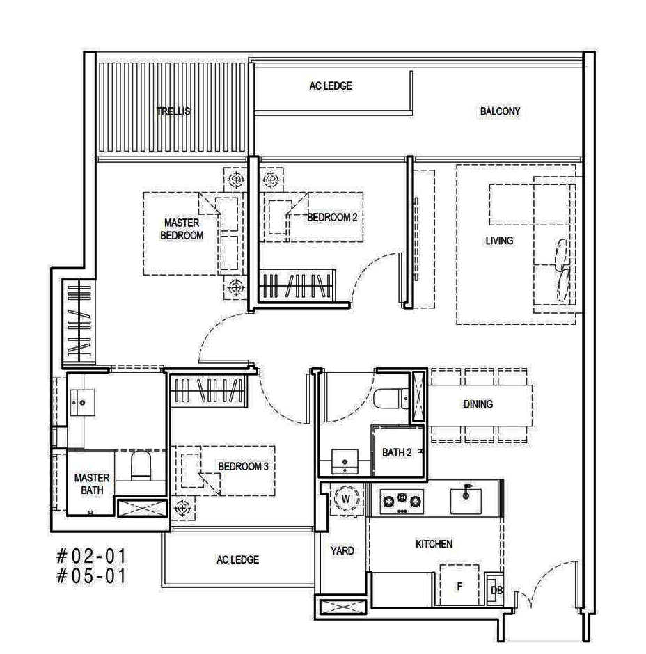 Kandis Residences 3 Bedroom Floor Plan