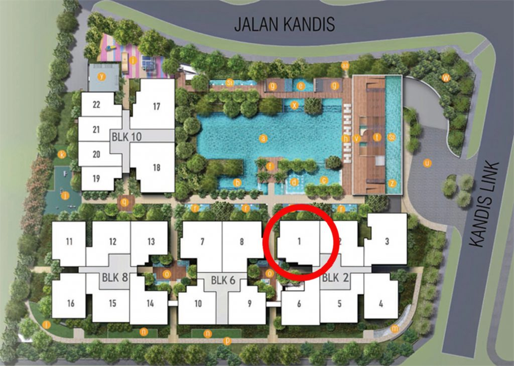 Kandis Residences 3 Bedroom Site Plan
