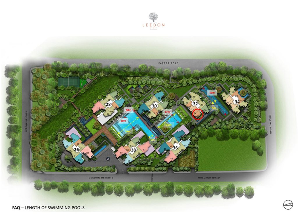 Leedon Green 1 Bedroom+Study Site Plan