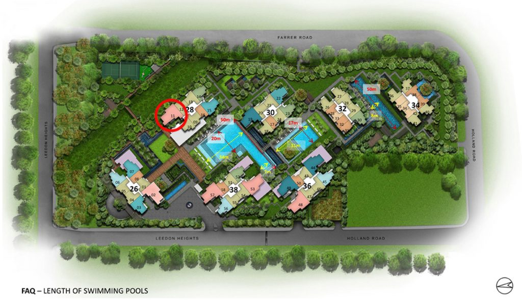 Leedon Green 4 Bedroom Site Plan