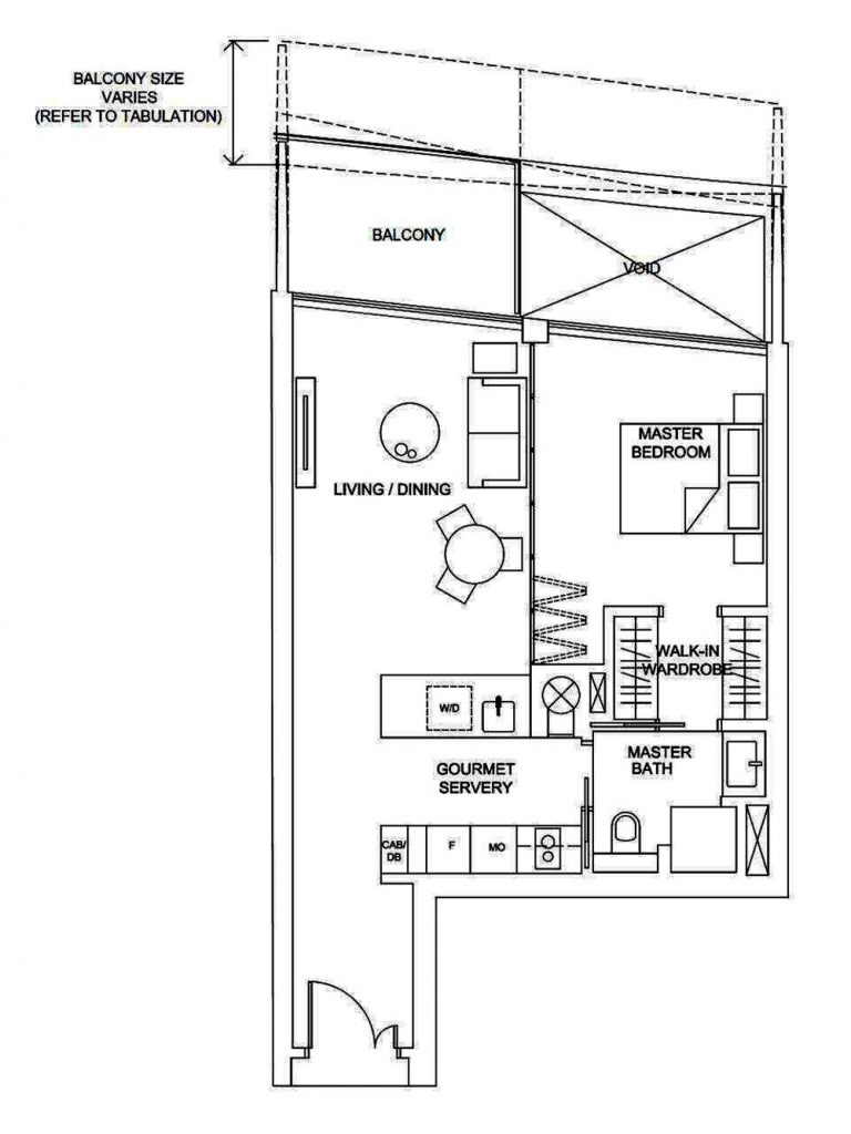 Marina One 1 Bedroom Floor Plan