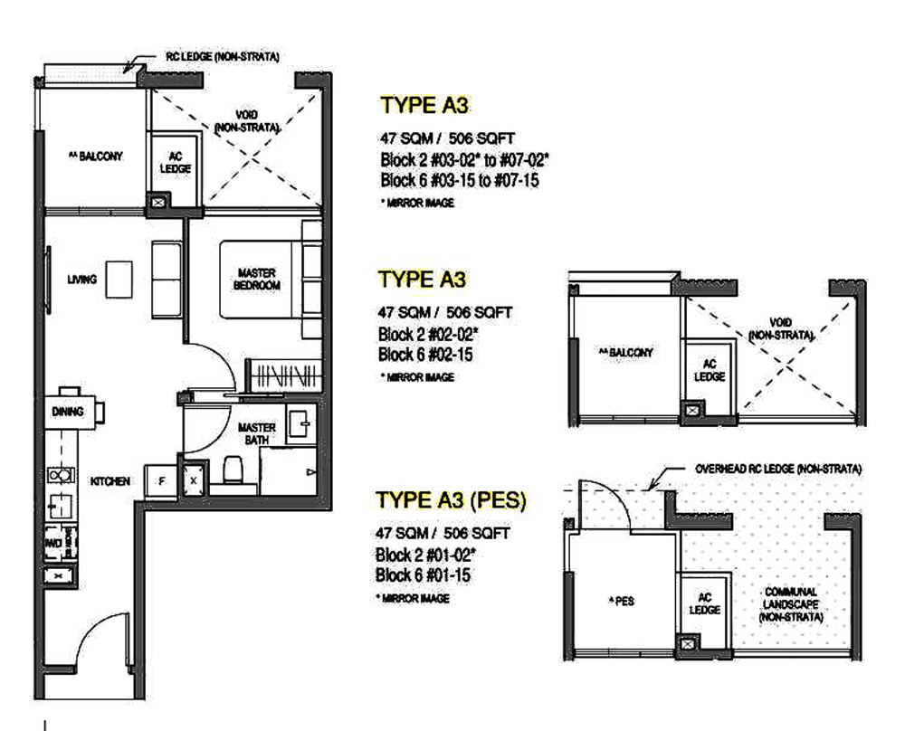 Mayfair Modern 1 Bedroom Floor Plan