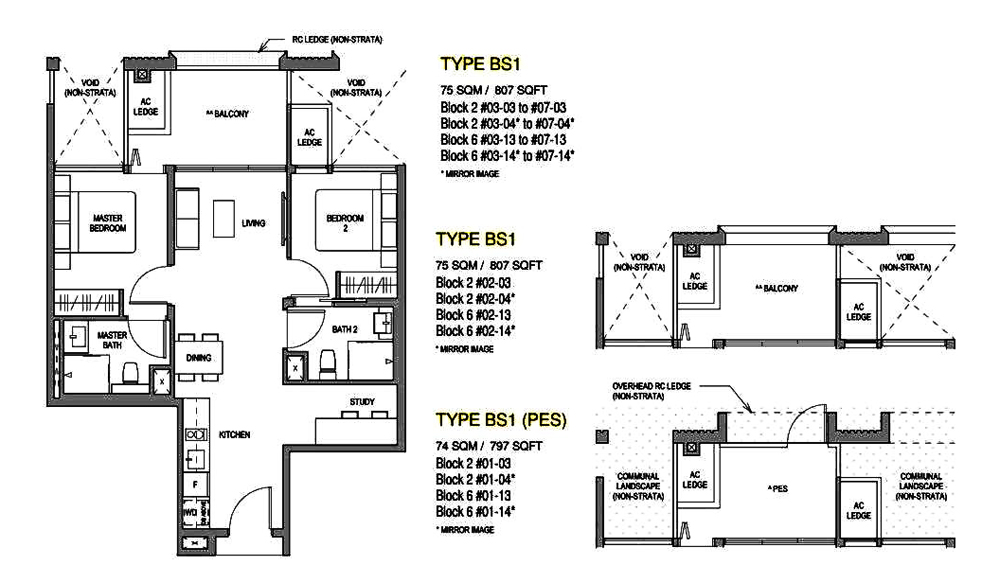Mayfair Modern 2 Bedroom+Study Floor Plan