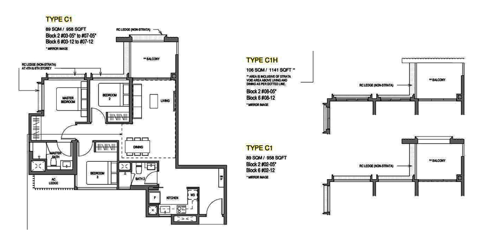 Mayfair Modern 3 Bedroom Floor Plan