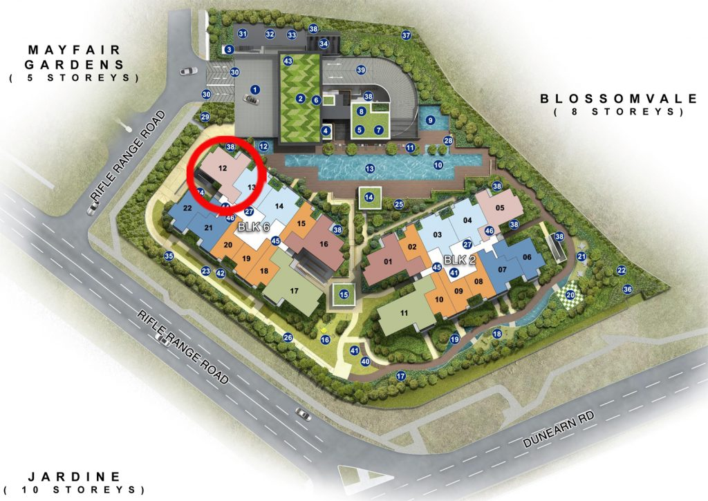 Mayfair Modern 3 Bedroom Site Plan 武吉知马公寓