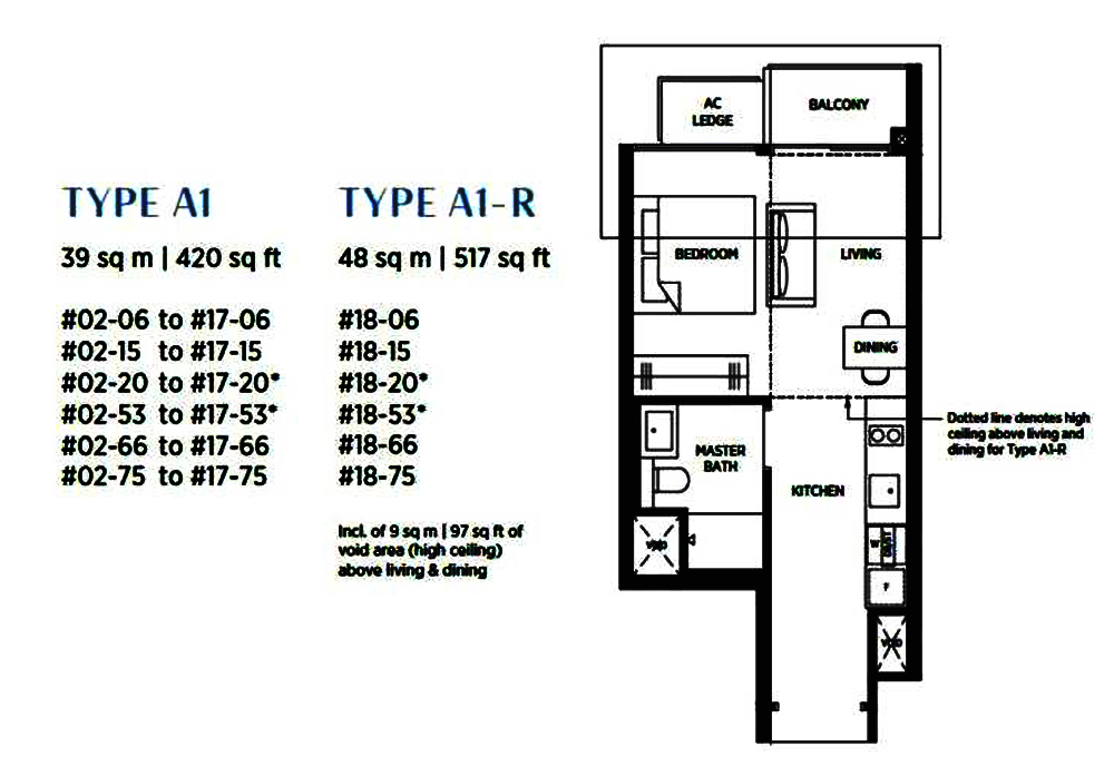Sims Avenue Singapore new launch Parc Esta 1 Bedroom Floor Plan