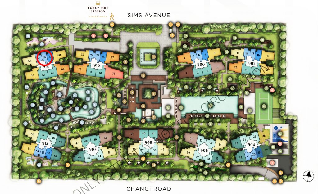Sims Avenue Singapore new launch Parc Esta 1 Bedroom Site Plan 东景苑