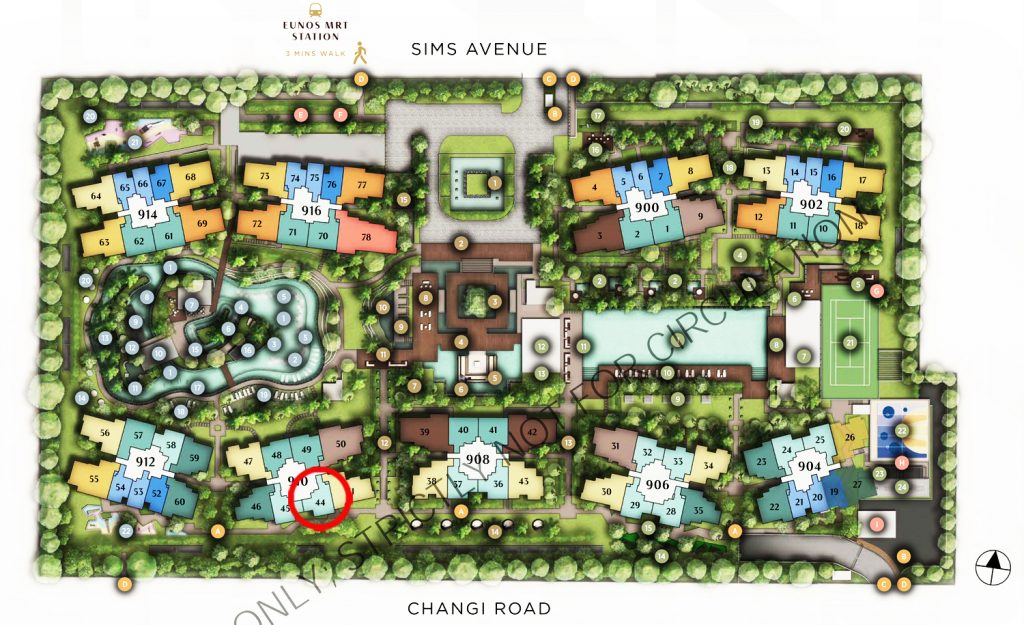Sims Avenue Singapore new launch 东景苑 Parc Esta 2 Bedroom Site Plan